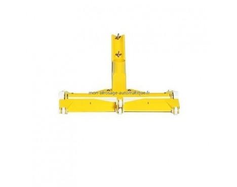 Tête de balai Fairlock de 48 cm - Liner/Béton avec brosses et roulettes