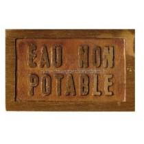 "Plaque ""EAU NON POTABLE"""