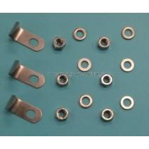Clips inox (3) + Ecrous et Rondelles (6) PROJ (remplace 106D004 + 106D006) (SNTE)